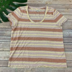Madewell alto scoop neck tee in Montoya stripes